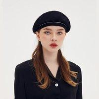 القبعات جين سوبياس المرأة قبعة أزياء أسود اللون الصوف مصمم نزهة الفنان الرسام الفرنسي قبعة القبعات