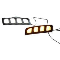 LED Drl Daytime Running Light Luz do Dia Amarelo Lâmpada de Sinal Lâmpada Estilo Lâmpada de Névoa Fit para 2017-2019 Honda Civic