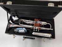 Bb-Trompete YTR-2335S-Qualitäts-Silber überzogen B Flat Professionelle Trompete Top Musikinstrumente Messing Bugle Trumpete