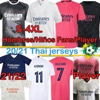 레알 마드리드 플레이어 버전 축구 유니폼 212 팬 위험 Sergio Ramos Benzema Vinicius 2020 2021 Camiseta 남자 키트 축구 셔츠 Uni