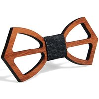 Vintage Rouge Rosewood Bow Crouse Hollow Out Bowknot pour Gentleman Wedding Wooden Bowtie Fasion Accessoires 9 Styles EEF4311