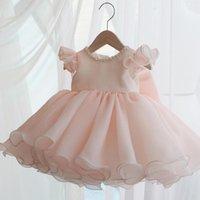 Vestidos menina vestido de bebê bebê batismo bola vestido roupas meninas princesa grande menina beading festa casamento aniversário1