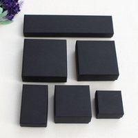 Kutular Yüksek Kalite 1 3ls10 L2 Ambalaj Vintage Bayan Takı Hediye Kutusu Çeşitli Tipi Siyah DIY Kraft Kağıt Kolye Küpe Yüzük Bilezik Kılıf