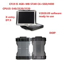 CF19 laptop PC 4g CPU with MB Diagnosis VCI SD Connect C6 OEM DOIP Xen-try Diagnosis VCI with V2020.06 HDD or SSD wifi