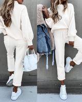 Yueyna المرأة s الملابس اثنين من قطعة السراويل الخريف الشتاء طويلة الأكمام رياضية الركض الدعاوى هوديس زائد حجم رياضية امرأة