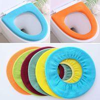 범용 화장실 시트 커버 매트 단색 따뜻하게 소프트 라운드 좌석 뚜껑 패드 재사용 빨 욕실 Closestool 시트는 VT1950를 커버
