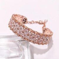 Bangle CIBO High-end Luxury Copper Inlay Zircon Bracelets Wide Version Imitation Lace Horse Eye They Form Of A Bracelet1