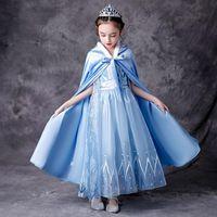 Light Sky Blue Flower Girl Vestidos para bodas Party Tulle FlowerGirl Primera Comunión Pagueant Vestidos para chicas de boda Niño