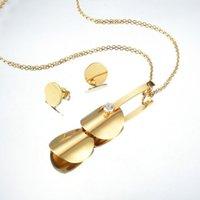 Collana di modo dell'acciaio inossidabile 316L catena del pendente rotondo del cerchio di fascino della collana Oro Argento di colore commercio all'ingrosso della collana di collegamento
