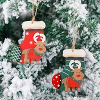 Christmas Tree Wooden Decoration Pendant Retro Style Wooden ...
