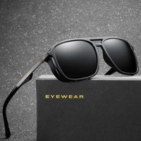 Fashion Design New Men' s Polarized Square Sunglasses Dr...