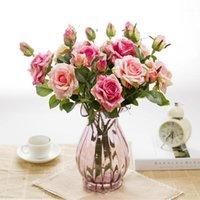 fleurs bourgeons artificiels latex rose pour mariage véritable toucher fleur bouquet de la maison décorations de la maison