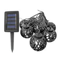 Partido del paisaje solar luz LED de cadena colgante de la yarda del bulbo Global decoración del jardín al aire libre linterna solar impermeable Llama la luz de hadas