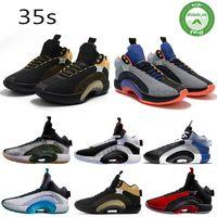 35 35s Jumpman Mens-Basketball-Schuh-Turnschuh-Fragment Schwerpunkt Krieger Schwestern Bayou Jungen Silber XXXV Scarpe-Trainer-Schuhe