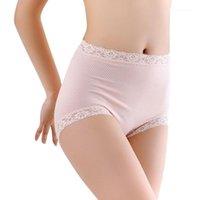 Frauenhöschen Große Größe 2XL-4XL Sexy Hohe Taille Frauen Baumwolle Solide Nahtlose Atmungsaktive Slips Unterwäsche Dessous Weiblich1