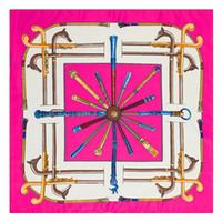 Шелковый шейный шарф оранжевый квадратный шарф печать сатин альбарс пятно эхарпе ретро твил шарфы 60 * 60см оптом