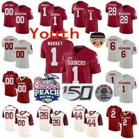 Пользовательские Оклахома рано колледж футбольные трикотажные изделия 44 Brian Bosworth 6 Baker Mayfield 6 Tre Brown 7 Spencer Rattler Молодежные дети сшитые