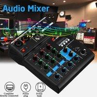 Radio 4 canaux mini USB Audio Mixer Console Bluetooth Enregistrer le fantôme avec une carte son pour la performance de scène1