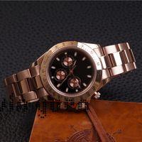 7 farben männer 40mm 116508 schwarze uhr zifferblatt rose gold 116503 116500ln chronograph chrono sportuhren oyster armband männer armbanduhr montre
