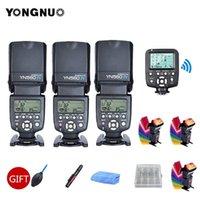 Lampeggia 3pcs Yongnuo YN560 IV YN560IV 2.4G Senza fili-wireless Speedlite Flash + YN560TX II Trigger controller per