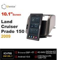 Auto Audio 10,1 Zoll 720p Eigentor 1 DIN Android 10.0 Radio Fortoysta Land Cruiser Prado 2009 GPS Autoplayer Kopfgerät IPS drehbar