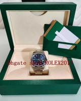 2021 Original Box Herren Datejust 41 Stahl schwarz blau grau Weiß Dial Oyster Armband 126300 Uhrwerk Automatische Herrenuhr Datumsuhren