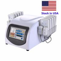 스톡 포토 휴대용 홈 Lipolaser 전문 슬리밍 기계 14 패드 Lipo 레이저 미용 장비 장치 체중 감량 기계