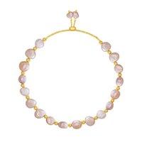 Дизайнерские простые пряди браслеты для женщин мода пресноводный жемчуг 925 стерлингового серебра шарм браслет роскошные ювелирные изделия мужские золотые браслеты