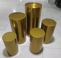 5 قطع الكهربائية الذهب مرآة الحديد المواد جولة اسطوانة حزب الزفاف الديكور بلينه