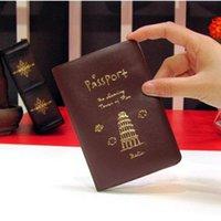 Capa de Passaporte Mulheres Homens PU Couro Capa no Passaporte ID de Crédito Holderbrand Unisex Travel Holder Holder H Jllrnn