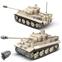 1018pcs WW2 Tiger 131 heavy Tank City Technic Military building blocks Bricks Soldier Amry Weapon Figures gifts for children X0127