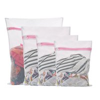غسالة غسل حقيبة القماش أكياس الغسيل شبكة شبكة صافي الملابس البوليستر تخزين سترة واقية غسل أكياس VTKY2283