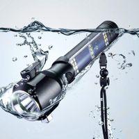 Mini luz solar martillo martillo linterna Multifuncional lámpara de antorcha Equipo de emergencia de automóvil con luz portátil solar USB