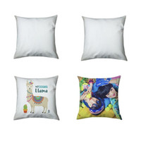 3 Sizes Sublimation Pillowcase Double-faced Heat Transfer Printing Pillow Covers Blank Pillow Cushion Without Insert Polyester GWD10548