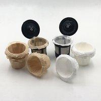 Kahve Filtreleri Kupası Tepsi Çay Cafe Kağıt Tutucu Lidless Tek Kullanımlık Ev Beyaz Katı Renk Tepsileri Aracı Pratik Taşınabilir 0 14LC L2
