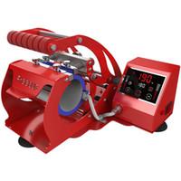 كأس جديد شاشة لمس LCD القدح الصحافة آلة التسامي طابعة آلة الصحافة الحرارة القدح الطباعة الأحمر الأسود الفضة الأزرق