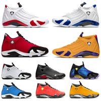 고품질의 망 baketball 신발 14 retro  jumpman 14S 체육관 레드 하이퍼 로얄 블루 Ferrar 새틴요르단레트로 대학 골드 남성 스니커즈