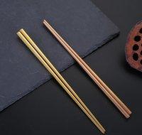 304 pauzinhos de aço inoxidável revestimento de vácuo colorido pauzinhos quadrados de boa qualidade Ouro arco-íris negro jllsrr yeah2010