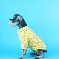 여름 세련된 인쇄 애완 동물 셔츠 패션 소프트 터치 패턴 애완 동물 후드 봄 가을 성격 매력 테 디 비 숑 의류