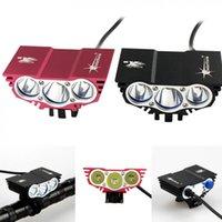 SolarStorm 3 T6 자전거 자전거 라이트 8000 루멘 XM-L LED 4 모드 자전거 자전거 전면 헤드 라이트 + O 링