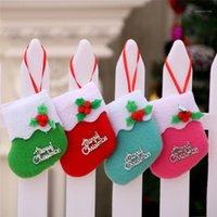Новый год 2020 рождественские чулки маленький ботинок кулон носок рождественские сумки подарок для домашних украшений Kerstsokken # 4G271