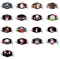 2020 cotton Christmas mask Christmas printing mask winter cl...