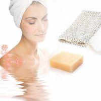Borsa di sapone fare bolle Saver Sack Astuccio coulisse Borse pelle di superficie della tela del cotone di pulizia coulisse Holder Bath Supplies