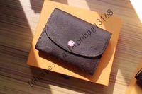 M41939 Toptan Lüks Gerçek Deri Bayan Çantalar Kısa Cüzdan Kart Tutucu Kadınlar Adam Klasik Fermuar Pocket Qwerq