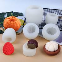 3D Smutulation Meyve Silikon Kalıp Aroma Mum Kalıp Çikolatalı Kek Pişirme Kalıpları Buz Kalıp 6 Stil XD24341