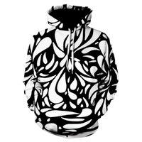 İnce spor hoodies vertigo İlkbahar / Yaz 2020 erkek spor baskı uzun kollu kapşonlu sweat 3D moda trendi