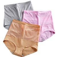 Big Size Panties Frauen mit hoher Taille Unterwäsche Weibliche hohe Aufstiegs-Schlüpfer Baumwolle Postpartum Abdomen In Unterwäsche Damen Briefs