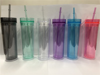 US Shipping! BPA Free 16 oz Acrylic Clear Tumblers With Lid&...