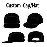 Cappello personalizzato 5 Pannelli Cap Snapback Hat Testo Ricamo Stampa regolabile personalizzato J1225