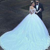 Brautkleider China Vestido de Noiva 2021 Prinzessin Brautkleider aus Schulter Applique Lace Sweetheart Perlen Ballkleid Brautkleid Robe